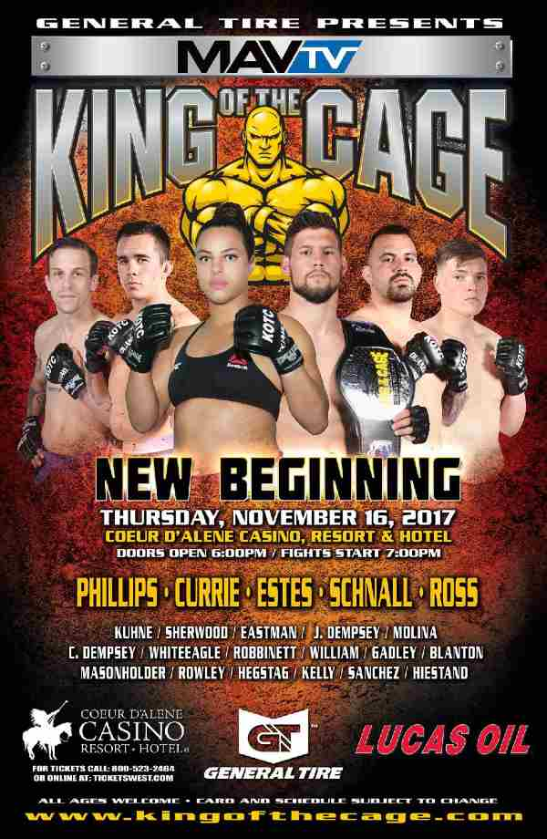 King of the Cage Announces Main Event for Coeur d'Alene